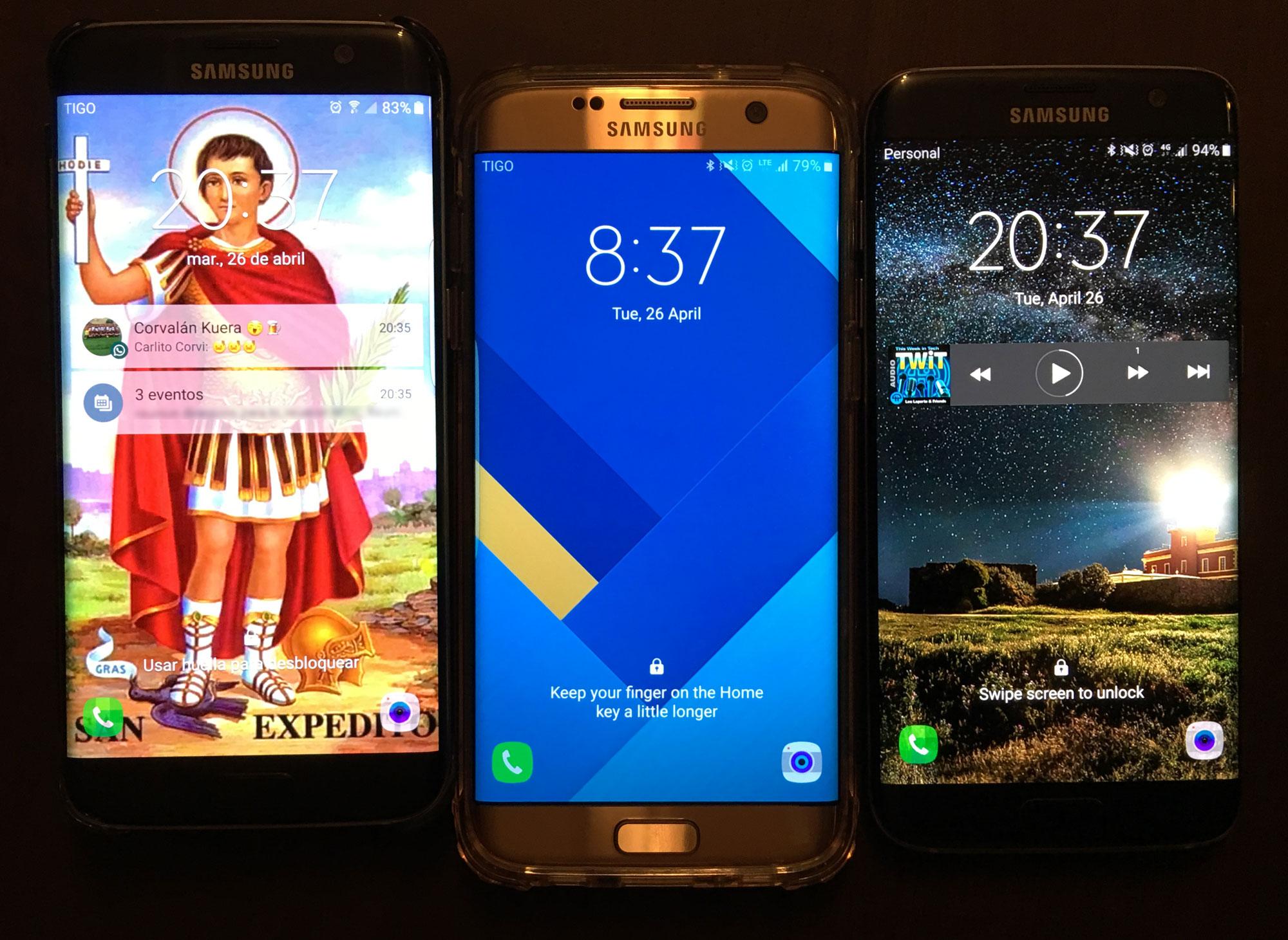 Los Samsung Galaxy S7 Edge de los panelistas